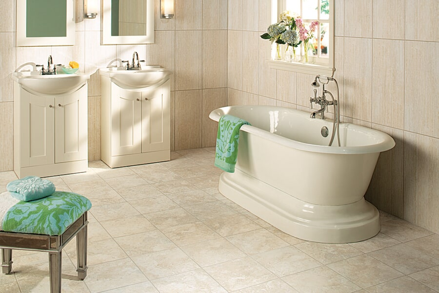 Ceramic Tile bathroom in Illinois at California Flooring