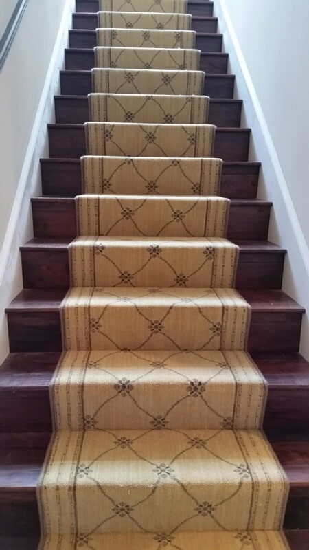 Stair runners from The Flooring Center in Lake Mary, FL