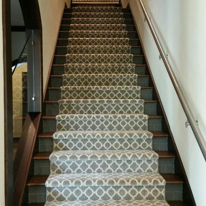 Stair runner from The Flooring Center in Orlando, FL