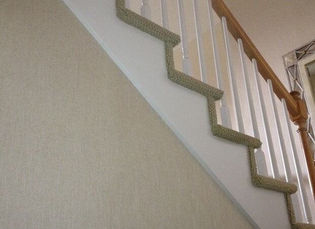 Carpeted stairs from The Flooring Center in Lake Mary, FL