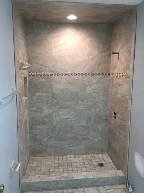 Shower tile from The Flooring Center in Longwood, FL