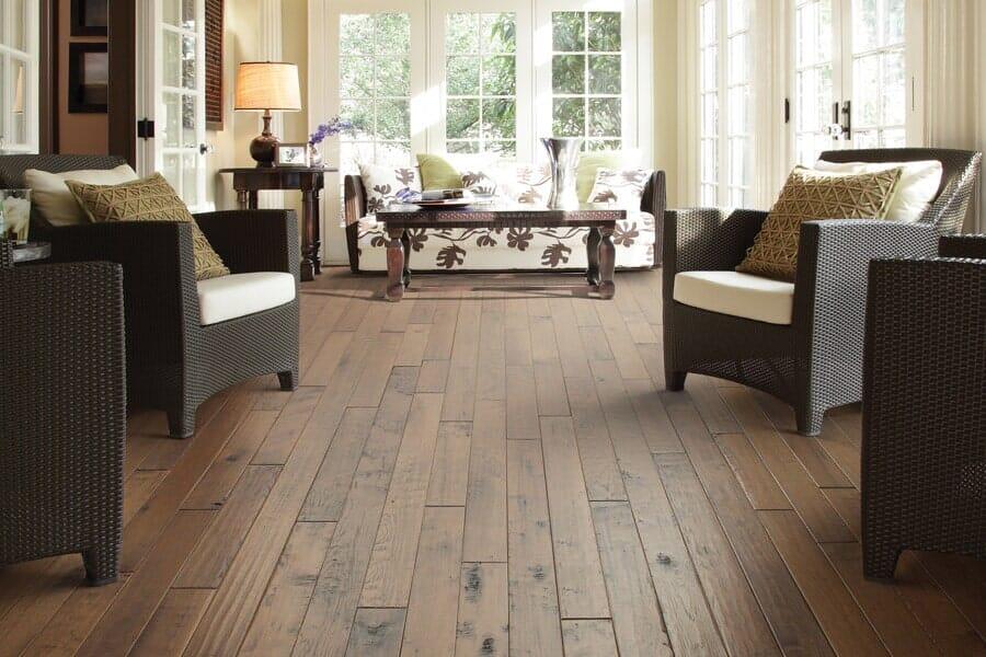 Hardwood floors for living room near Denver, CO at Choice Floors