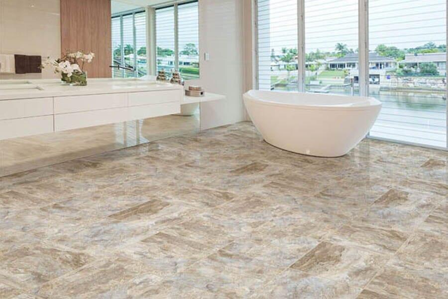 Luxury Vinyl bathroom floors from Choice Floors near Cedar Rapids, IA
