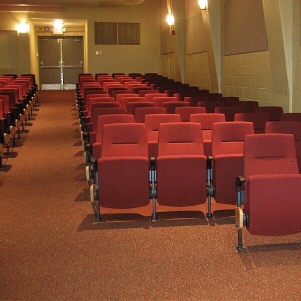Bigelow carpet installed in the Gonzaga Auditorium @ Fairfield University