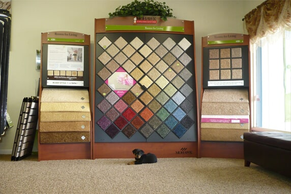 Isabella Flooring Inc carpet display