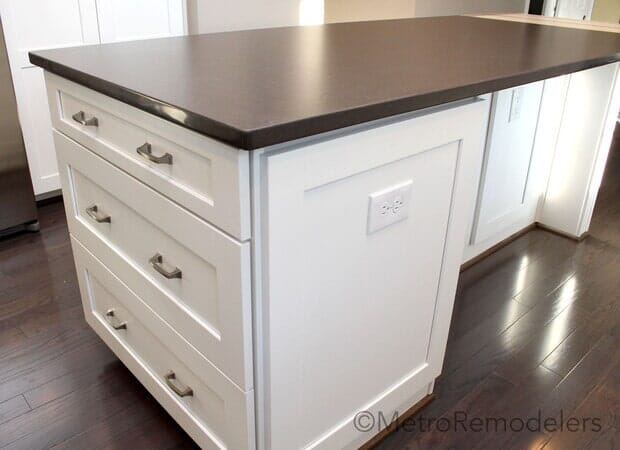 After Custom Kitchen Island