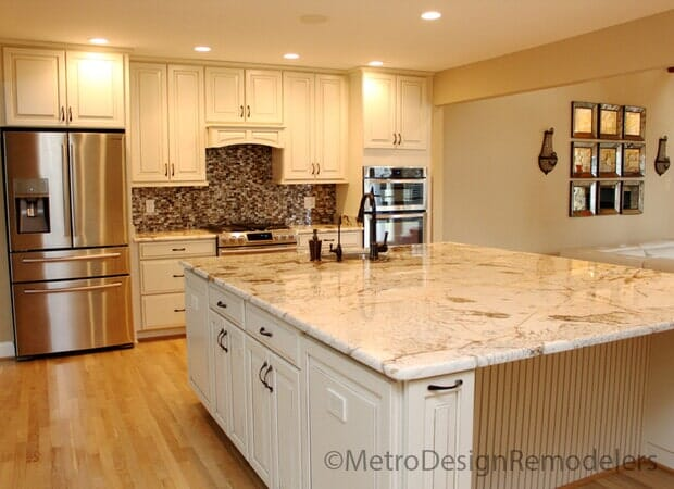 After Kitchen Island with Cabinets