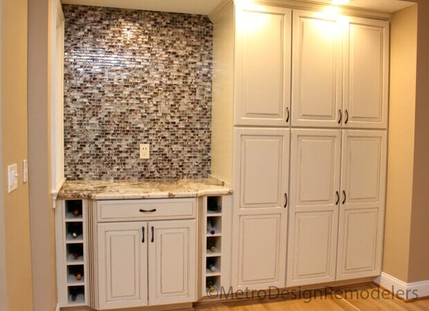 After Custom Wine Rack and Pantry