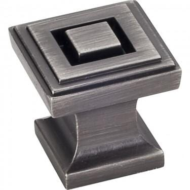 Delmar Square Cabinet Knob Brushed Pewter