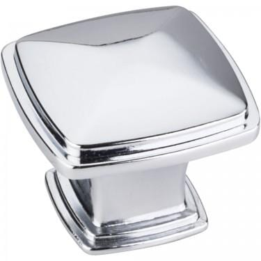 Milan 1 Zinc Diecast Square Cabinet Knob Polished Chrome