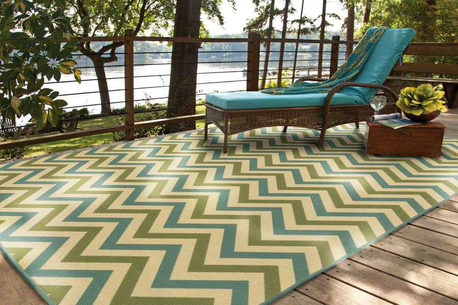 Indoor outdoor area rugs in Sister Lakes MI from Migala Rug & Tile