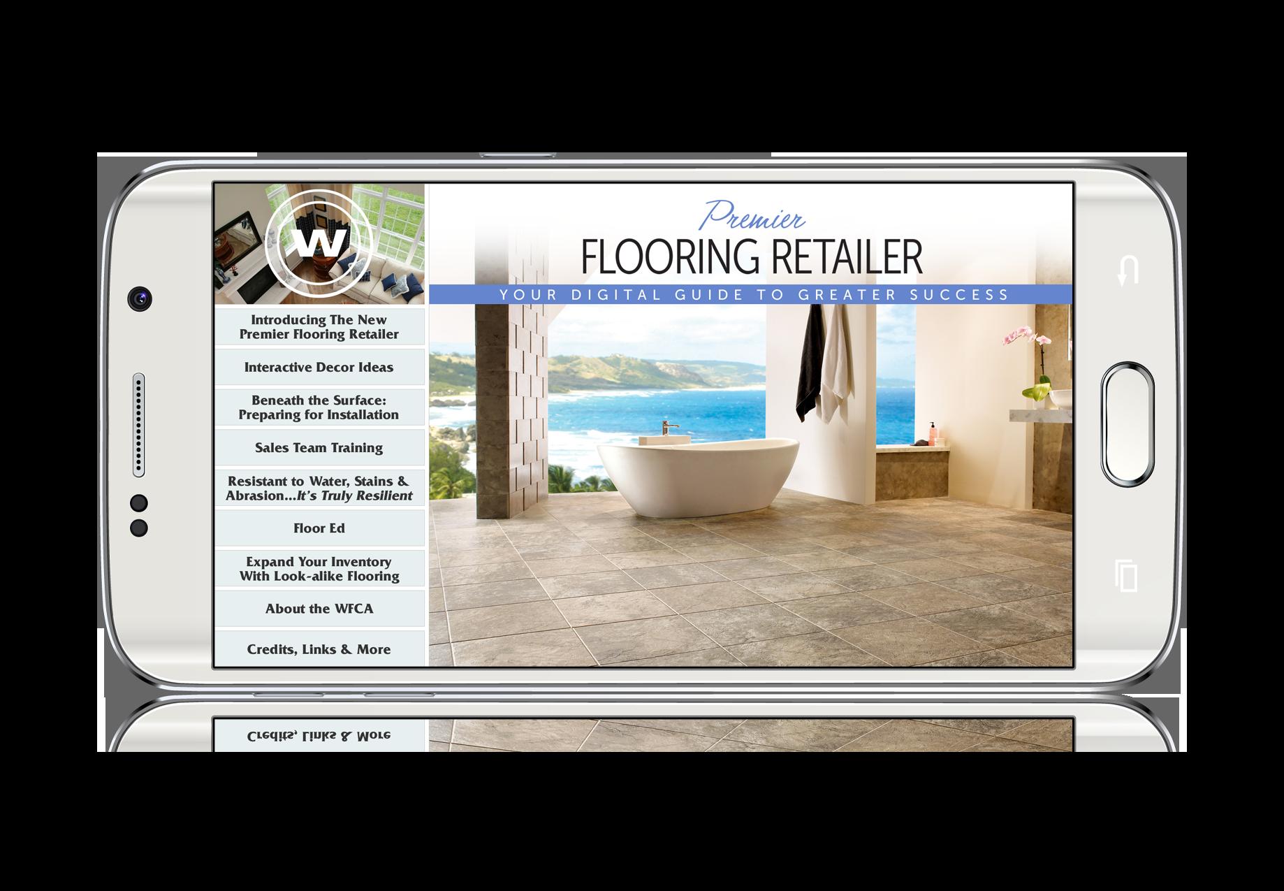 Premier Flooring Retailer Magazine - Mobile App - Nationwide