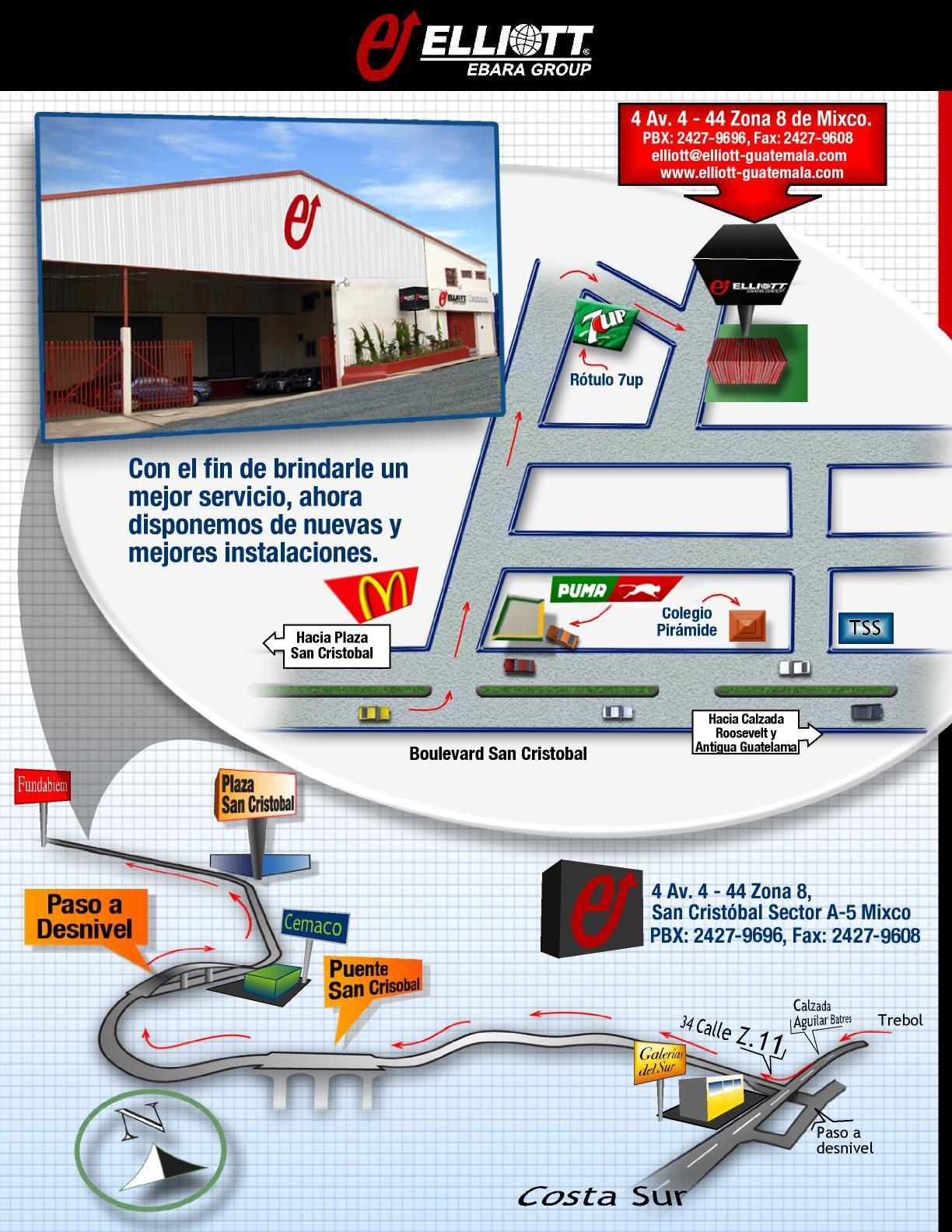 Elliott Turbocharger Guatemala - Contáctenos