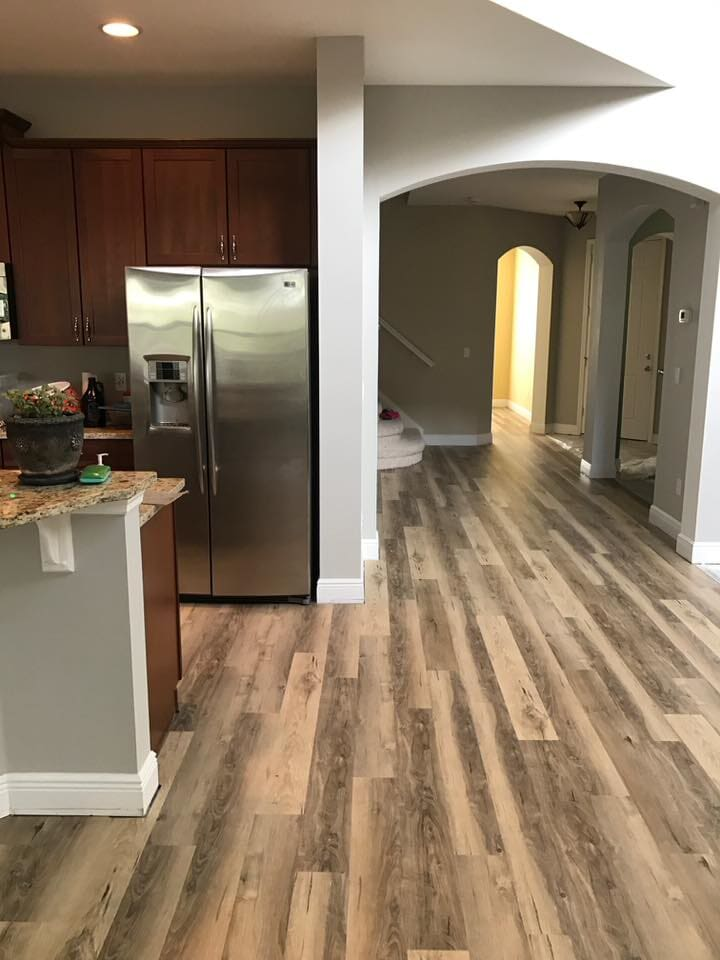 Hardwood install in the kitchen in Longwood, FL from The Flooring Center