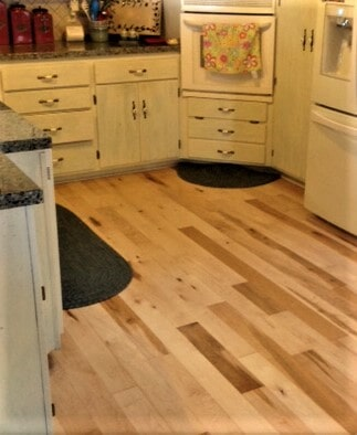 Maple kitchen hardwood flooring in Billings, MT from Covering Broadway