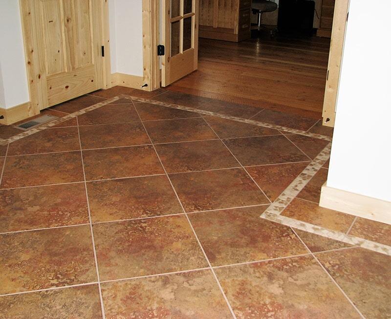 Tile flooring installation in Bridger, MT from Covering Broadway