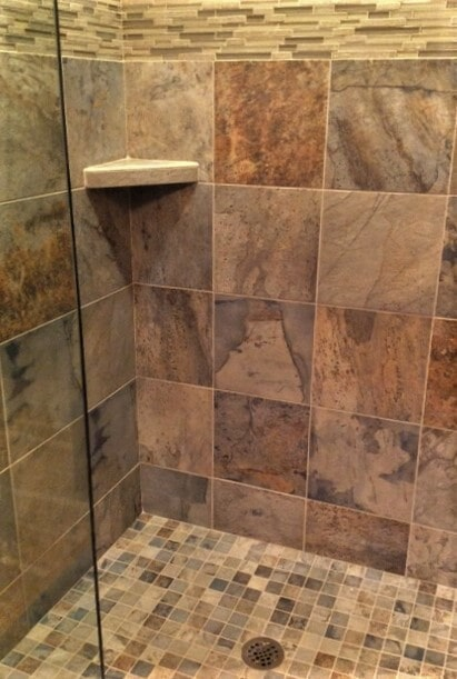 Shower tile installation in Roscos, MT from Covering Broadway