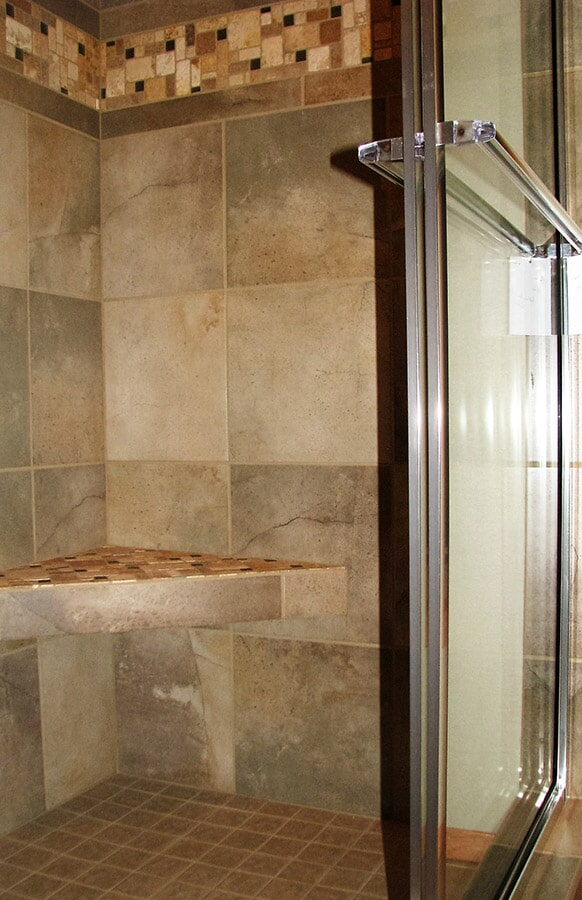Shower tile installation in Absarokee, MT by Covering Broadway