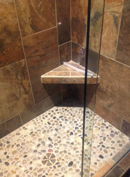 Natural stone bathroom ideas in Bridger, MT by Covering Broadway