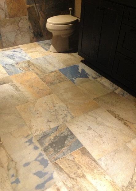 Slate bathroom floors in Columbus, MT from Covering Broadway