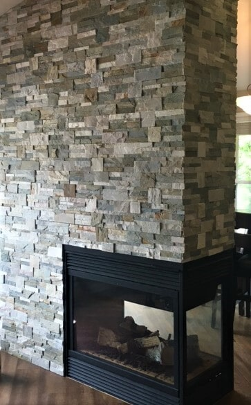 Natural stone fireplace in Columbus, MT from Covering Broadway