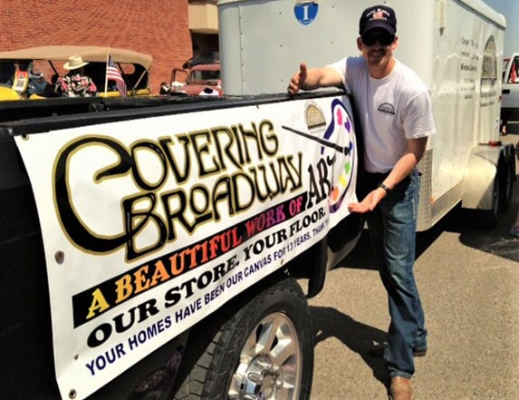 Covering Broadway in Red Lodge, MT team