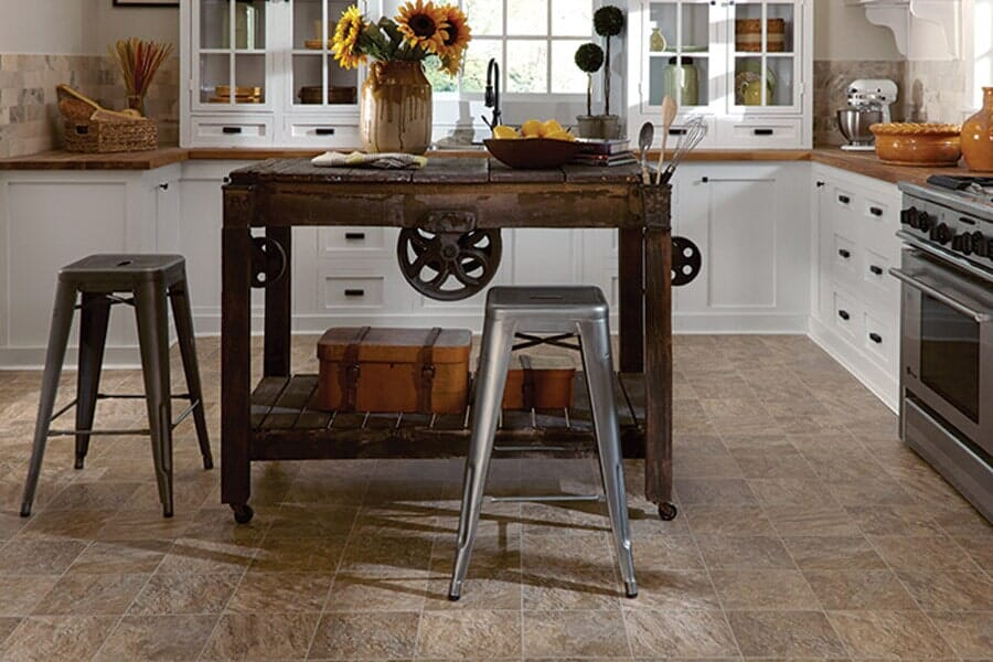 Luxury Vinyl kitchen floors near San Bruno, CA at Sean's Quality Floor