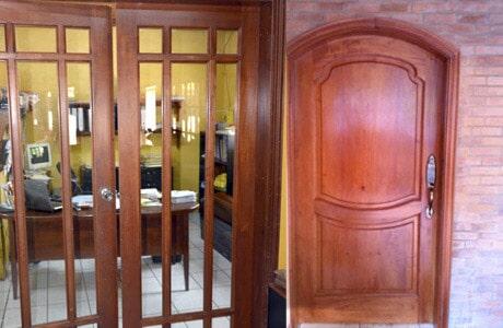 puertas de madera tallada