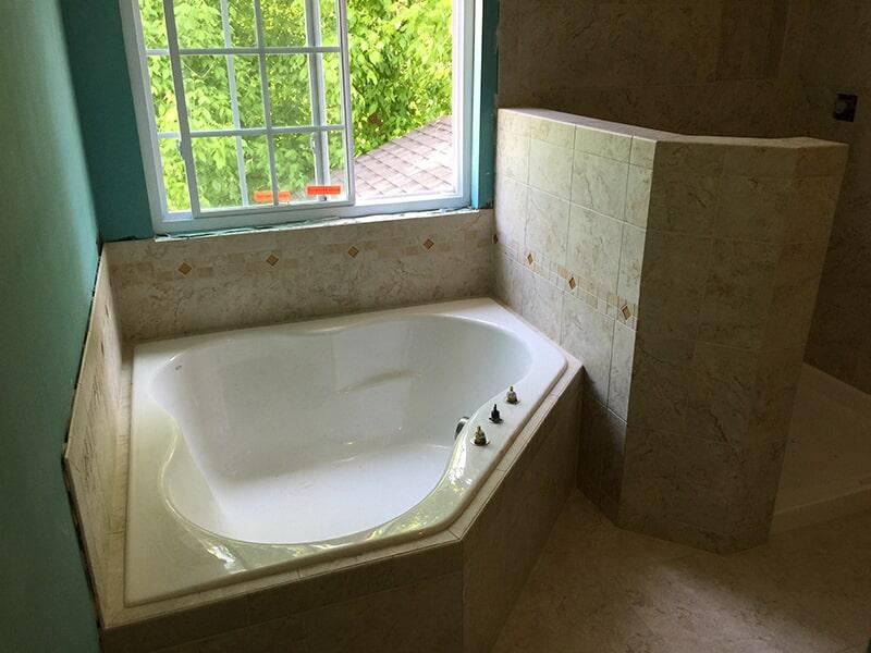 Bathroom tile work by All Surface Flooring servicing Ballwin MO