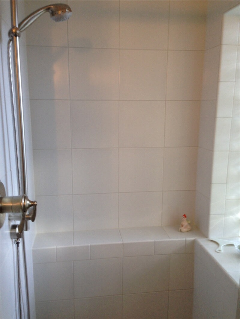 Tile shower surround by All Surface Flooring servicing Ballwin MO