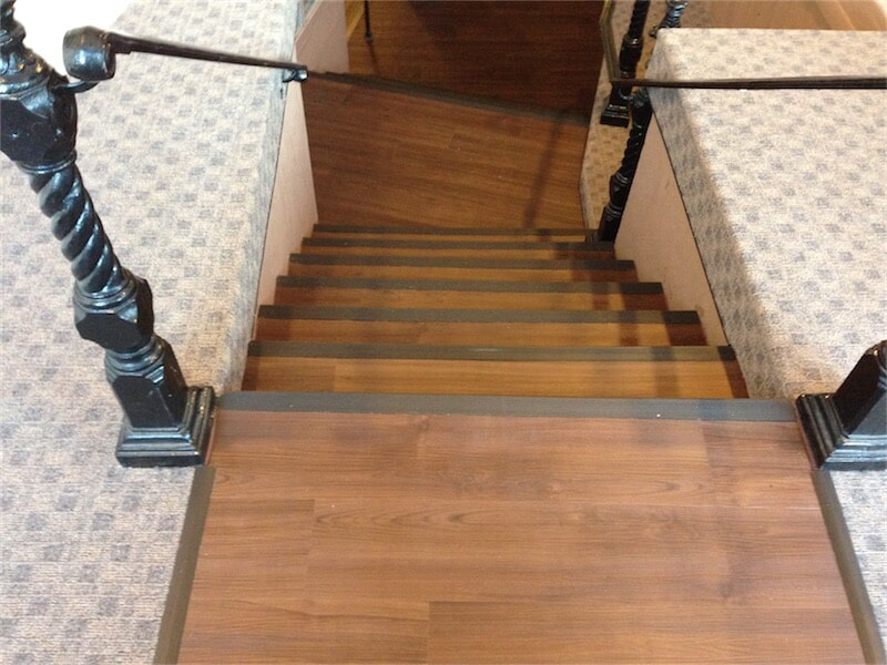 Flooring for stairs by All Surface Flooring servicing Ellisville MO