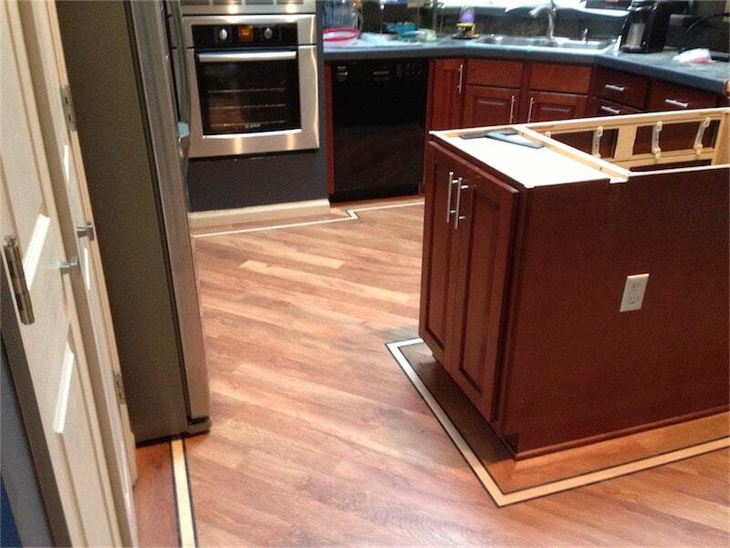Laminate flooring installation by All Surface Flooring servicing Ballin MO