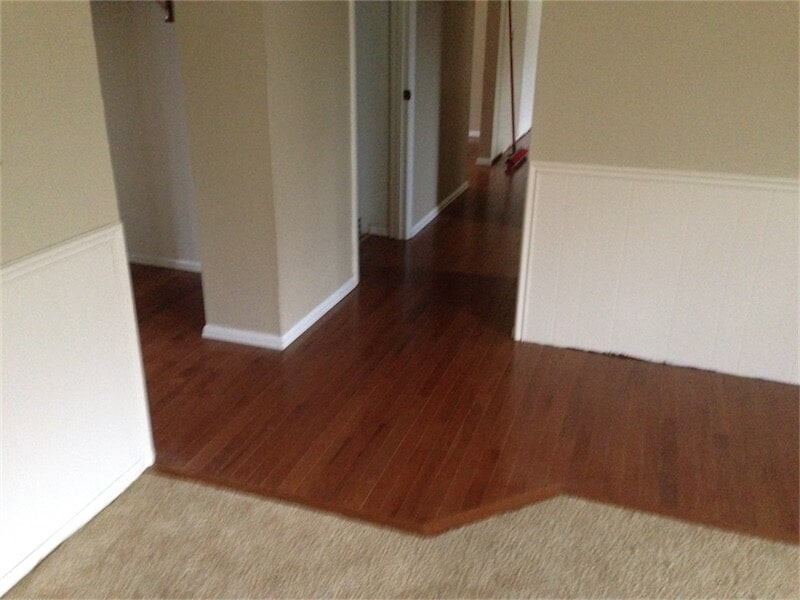 Hardwood flooring installation by All Surface Flooring servicing Creve Coeur MO