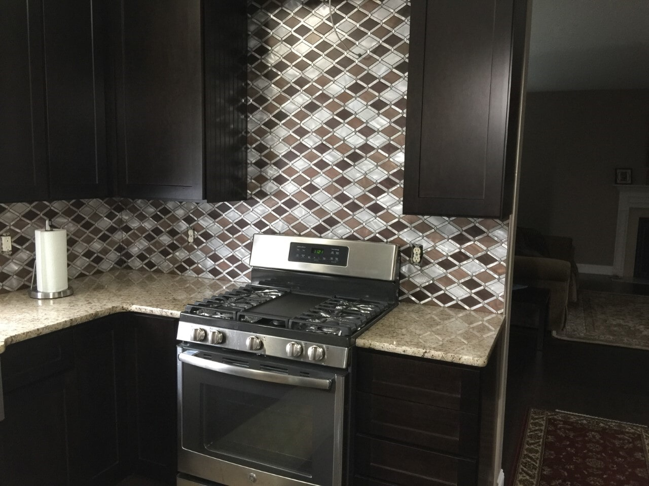 Kitchen tile backsplash by All Surface Flooring servicing Ellisville MO