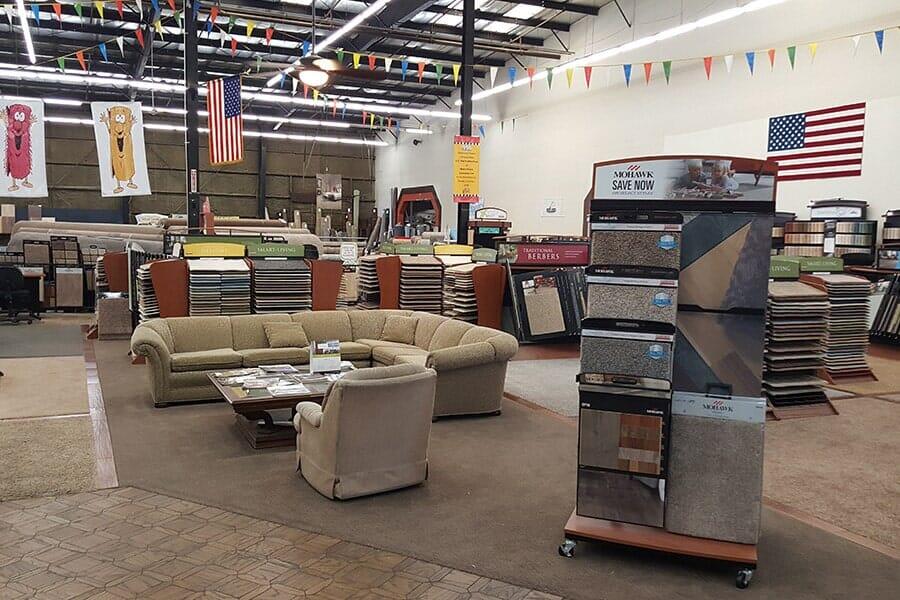 Flooring showroom in Lancaster CA - Metro Floors