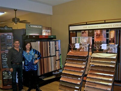 The Flooring and Design Showroom of Tukasa Creations near Portland TX