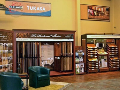 The Flooring and Design Showroom of Tukasa Creations near Orange Grove TX