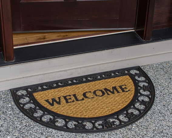 Tire welcome mats in Frankenmuth MI