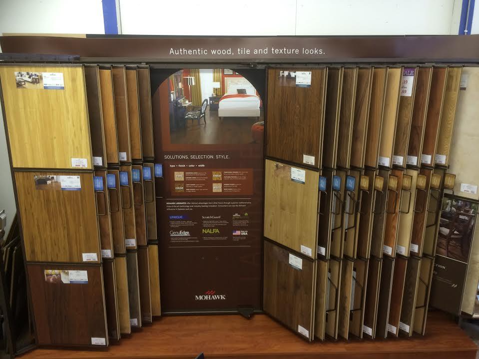 Hardwood flooring showroom in Crooksville OH from Lavy's Flooring