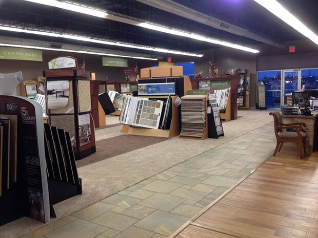 Showroom in Benton IL from L & P Carpet