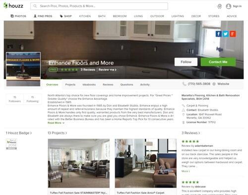 Enhance Floors & More in Marietta, GA uses houzz