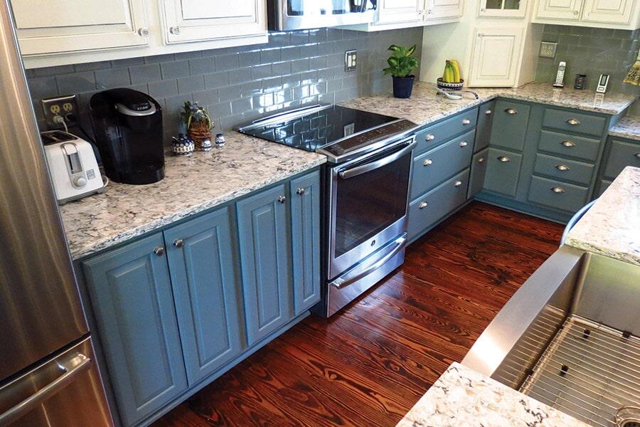 Custom cabinet installation in Leonardtown, MD from Southern Maryland Kitchen, Bath, Floors & Design