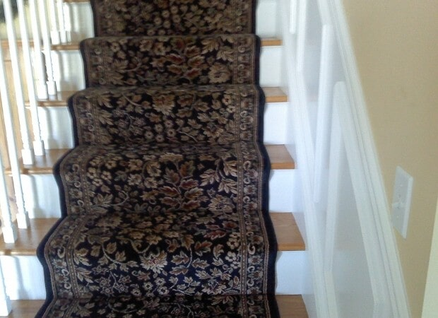 Stair runner installation in Hyde Park NY from Personal Touch Flooring