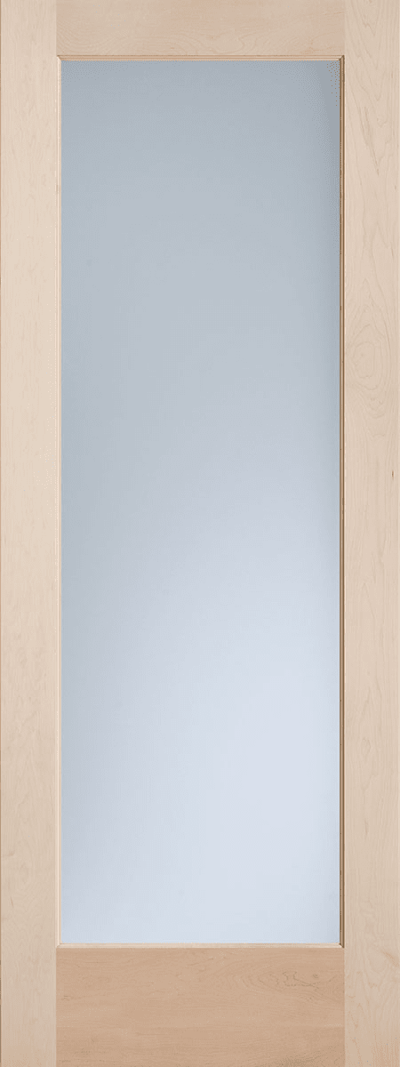 Maple Exterior French Lite Door with Satin Etched Decorative Glass
