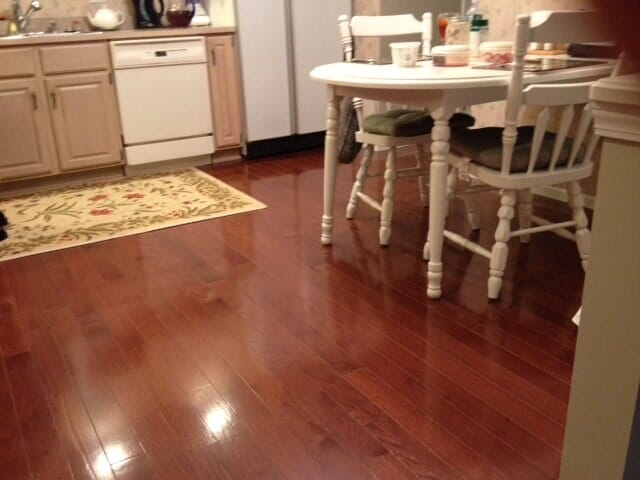 Hardwood floors in the kitchen in Henrietta NY by Christian Flooring