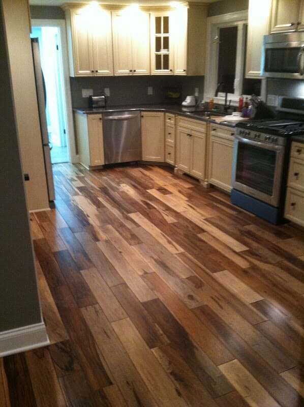 Wood look vinyl floor installation in Greece NY by Christian Flooring