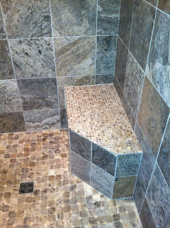 Custom tile shower in Irondequoit NY by Christian Flooring