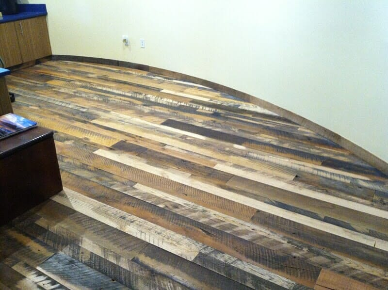 Commercial wood vinyl floors in Spencerport NY by Christian Flooring