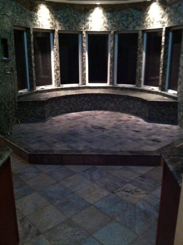 Custom commercial tile work in Rochester NY by Christian Flooring