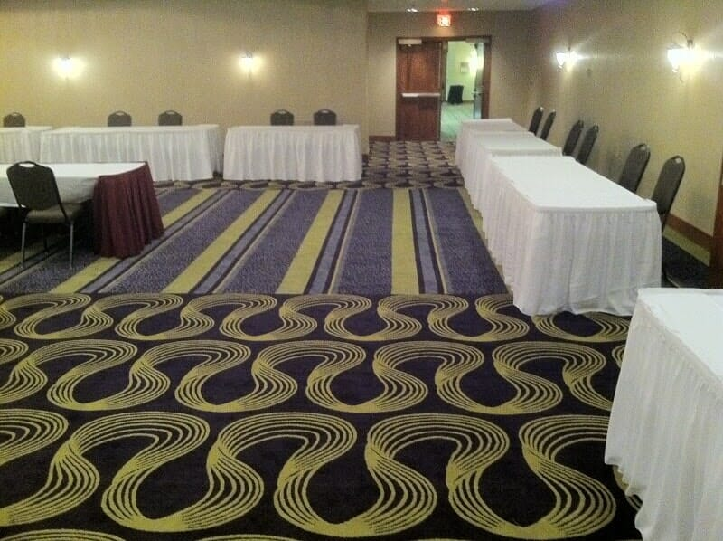 Commercial ball room carpet in Webster NY by Christian Flooring